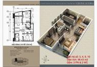 Cho thuê chung cư Văn Phú Victoria, 97m2, 6 triệu/tháng