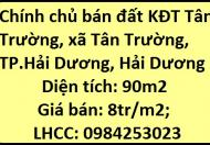 Chính chủ bán đất KĐT Tân Trường, xã Tân Trường, TP.Hải Dương, 8tr/m2; 0984253023