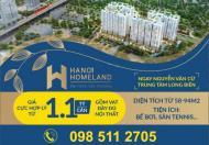 Mở bán chung cư cao cấp Hà Nội Homeland