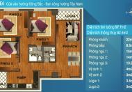 Bán căn hộ KĐT Nam Cường 234 Hoàng Quốc Việt, 91m2, chia làm 3 phòng ngủ, 2wc, giá 26 tr/m2