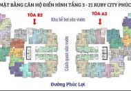 Chính thức nhận chỗ căn tầng đẹp toà A – Ruby CT3 Phúc Lợi, chọn căn tầng, giá chỉ 18tr/m2