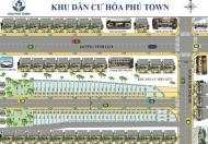Cơ hội đầu tư chỉ với 650tr/nền đất 80m2 khu dân cư Hoà Phú Town cách Thành Phố 3km