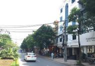 Cho thuê mặt bằng đường Lạc Long Quân, đoạn gần quận ủy Tây Hồ mặt tiền rộng 10.5m tiện làm NH
