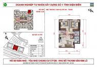 Bán căn hộ 54 m2 tại CT12C Kim Văn Kim Lũ giá chỉ 1 tỷ 050 để lại toàn bộ nội thất