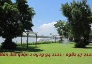 Bán đất bờ sông khu Trần Não Quận 2 có sổ đỏ tư nhân DT 20x20m mặt tiền sông rất đẹp