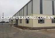 Cho thuê kho xưởng tiêu chuẩn tại Cụm công nghiệp Phong Phú, tp Thái Bình giá tốt