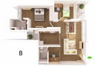 Cần cho thuê căn hộ Rừng Cọ, full đồ, 83m2, tại KĐT Ecopark, giá 9tr/th