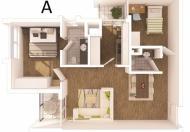 Cần cho thuê gấp căn hộ 71m2, không đồ, Rừng Cọ tại KĐT Ecopark