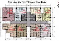 Bán căn góc số 01 tòa NO1-T2 bàn giao thô, giá 27tr/m2, bao phí, LH 0961134595