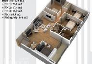 Bán căn 03, tầng 11, tòa N03-T5 Ngoại Giao Đoàn, DT 133m2, giá bán 26tr/m2