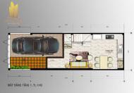 Nhà 1 trệt, 3 lầu, giá 2 tỷ 700 tr/căn, MT đường Liên Phường, P. Phú Hữu, Q. 9, 090.114.1642