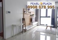 Bán gấp CH 2PN, 92m2, nội thất cao cấp, giá chỉ 4,65 tỷ tại Pearl Plaza, hotline 0908 078 995
