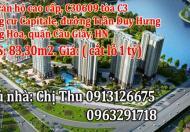 Bán căn hộ chung cư cao cấp, căn C30609 tòa C3 chung cư Capitale, đường Trần Duy Hưng