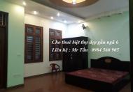 Cho thuê biệt thự gần ngã 6, trung tâm thành phố Bắc Ninh