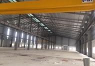 Cho thuê kho xưởng khung Zamil, diện tích 3250m2 và 10.000m2 Phố Nối, Hưng Yên