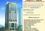 Bán căn 3PN tại Láng Hạ diện tích 126m2, giá gốc chủ đầu tư. Lh 0396993328
