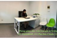Cho thuê văn phòng trọn gói 4,5 triệu đường Cửa Bắc, Ba Đình, KV phố cổ, phòng 2-3 người