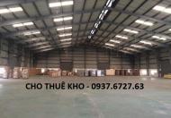 Cho thuê kho Sóng Thần, Kho bãi Bình Dương giá rẻ, diện tích 200, 300 m2... 5.000 m2 - 0937.6727.63