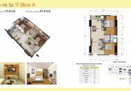 Chính chủ bán RẺ, Gấp căn hộ 75,8m2, căn góc 2 mặt thoáng Tòa A Gemek Tower I – Hoài Đức