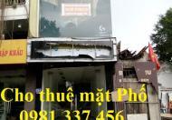 Cho thuê nhà mặt phố Thái Hà 52m2, MT: 4m, 3 tầng, 30 tr/th, Quý mặt phố 0981337456