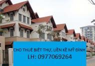 Cho thuê biệt thự phố cao xuân huy Mỹ Đình, Q Nam Từ Liêm.