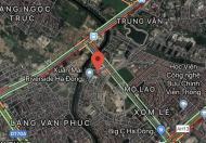 Bán gấp lô đất chân tòa Xuân Mai Riverside,Mỗ Lao,Hà Đông.kinh doanh tốt.giá 100tr/m2.