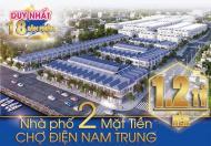 Duy nhất 18 sản phẩm nhà phố 2 mặt tiền chợ Điện Nam Trung, Giá 1,2 tỷ/nền