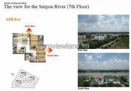 Bán CHCC XI Riverview, tầng thấp, DT 145m2, 3 phòng ngủ, giá tốt