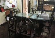 Chính chủ cần bán bộ bàn ghế gỗ trắc tự nhiên và pho tượng nghệ thuật cổ điển