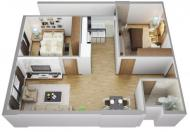 Bán căn chung cư CT3 VCN Phước Hải, Nha Trang. Giá bán 1 ,8 tỷ không nội thất có sổ hồng.