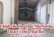 Chính chủ Cho Thuê Nhà Xưởng, Thôn Cổ Điển, Hải Bối, Đông Anh, Hà Nội