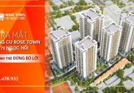 Ra mắt chung cư 79 Rose Town 79 Ngọc Hồi 20tr/m2