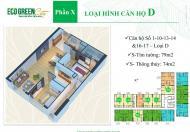 Bán gấp căn hộ 75m2,2PN giá 2.05 tỉ tại Ecogreen CT4