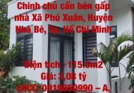 Chính chủ cần bán gấp nhà Xã Phú Xuân, Huyện Nhà Bè, Tp. Hồ Chí Minh
