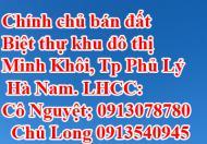 Chính chủ bán đất biệt thự khu đô thị Minh Khôi, Tp Phủ Lý, Hà Nam