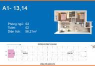 Bán CHCC Q.12 - Giáp Q.Tân Bình. 2PN, 2WC 56m2-1.65 Tỷ. LH 0968028512 (Gặp Định)