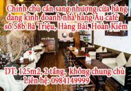 Chính chủ cần sang nhượng cửa hàng đang kinh doanh nhà hàng Âu café 58b Bà Triệu, phường Hàng Bài,
