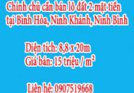 Chính chủ cần bán lô đất 2 mặt tiền tại Bình Hòa, Ninh Khánh, Ninh Bình