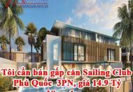 Tôi cần bán gấp căn Sailing Club Phu Quoc  3PN, giá 14.9 Tỷ view đẹp, LH Mr Phước : 0936446878
