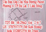 Cần Bán Gấp Căn Nhà Đường Paster ,Phường 4, TP Đà Lạt, T Lâm Đồng