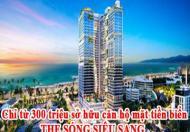 Chỉ từ 300 triệu sở hữu căn hộ mặt tiền biển THE SÓNG SIÊU SANG