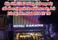 Bán quán karaoke Royal 6 tầng, diện tích 212m2 vuông, có thang máy, chỗ để xe rộng rãi cho nhiều