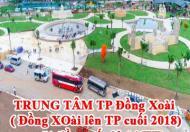 TRUNG TÂM TP Đồng Xoài( Đồng XOài lên TP cuối 2018), mặt tiền quốc lộ 14(TT).