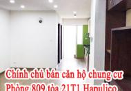 Chính chủ cần bán căn hộ chung cư số 809 tòa 21T1 Hapulico, Thanh Xuân Trung,  Thanh Xuân, Hà Nội