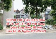 CHÍNH CHỦ CẦN BÁN NHÀ số 24, ngõ 137, phố Việt Hưng- Quận Long Biên