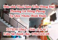 Bán nhà 70m2 (giá 2,6 tỷ) hẻm Trần Hưng Đạo, Tp Quy Nhơn, Bình Định (Thuộc Phường Lê Hồng Phong)