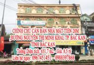 CHÍNH CHỦ CẦN BÁN NHÀ MẶT TIỀN 20M ĐƯỜNG NGUYỄN THỊ MINH KHAI, TP. BẮC KẠN, TỈNH BẮC KẠN