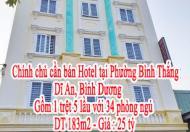Cần bán nhà Hotel tại Phường Bình Thắng, Dĩ An, Bình Dương