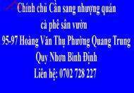 Chính chủ Cần sang nhượng quán cà phê sân vườn Quy Nhơn