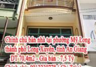 Chính chủ cần bán Nhà tại phường Mỹ Long, thành phố Long Xuyên, tỉnh An Giang